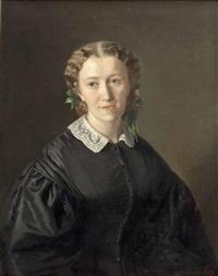 porträt einer dame by ferdinand krumholz