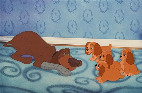 A Celluloid Of Trusty And Puppies From Lady And The Tramp By Walt Disney Studios On Artnet