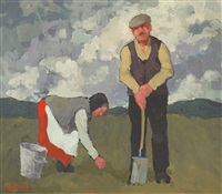 man and woman in a field by norman smyth