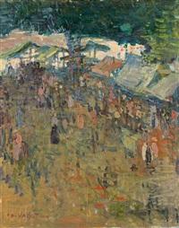 marché à genève by edouard (eugène françois) vallet