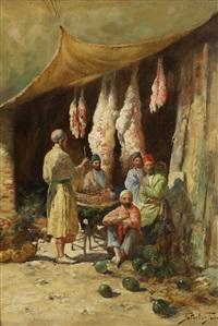 the butcher's stall by georgy gabashvili