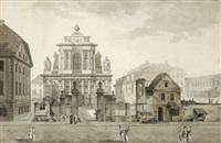 die karmeliterkirche in warschau by zygmunt vogel