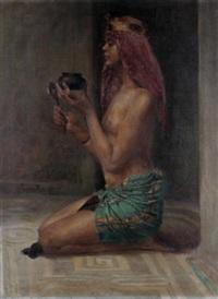 oriental lady by sigmund vajda