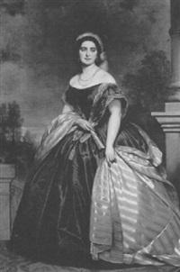 portrait of empress charlotte of mexico by joseph mathäus aigner