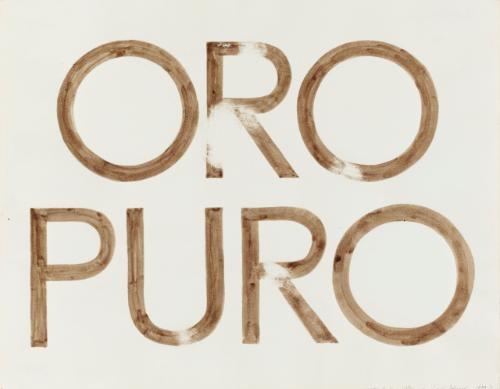 oro puro by ed ruscha