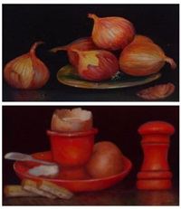 breakfast in red (+ i love onions; 2 works) by junius james allen