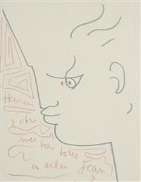 visage de profil by jean cocteau