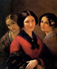 ritratto di tre fanciulle by natale schiavoni
