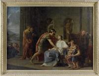 les adieux de coriolan à sa femme by etienne aubry
