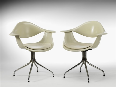 paar fauteuils daf-chair, modell aus dem jahre 1958 (pair) by george nelson