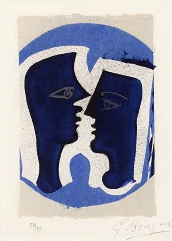 le couple (from lettera amorosa) by georges braque