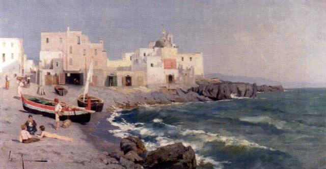sydländsk kustbild by vittorio avanzi