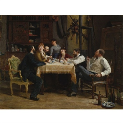 a friends lunch by fernand cormon