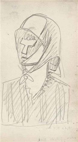 femme au foulard by julio gonzález