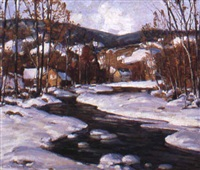 homes by snowy brook by camillo adriani