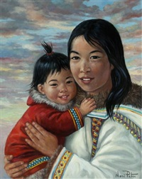 baby ootaq and her mother by nori peter