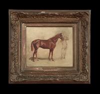 cheval alezan (chestnut horse) by jean louis ernest meissonier