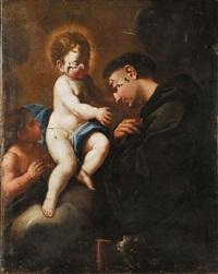 sant'antonio con bambino e san giovannino by ludovico mazzanti