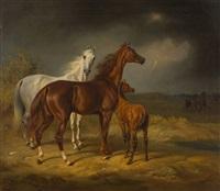 pferde im gewitter by albrecht adam
