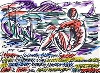 am strand von positano by carl johann rabus