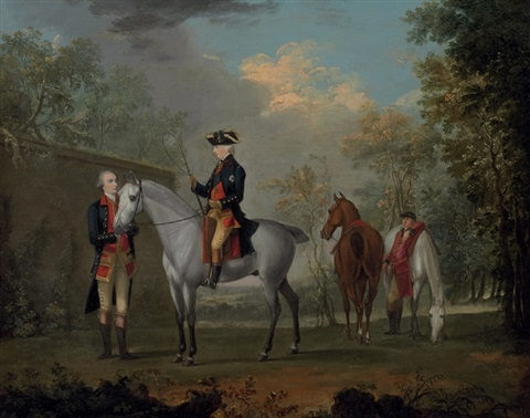 an equestrian portrait of his royal highness edward augustus duke of york and albany by david morier