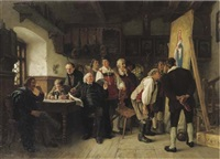 das neue altarbild - inspecting the commission by carl maria seyppel