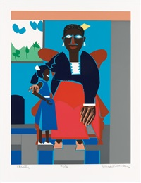 family (mother and child) by romare bearden
