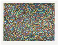 curvy brushstrokes/color by sol lewitt