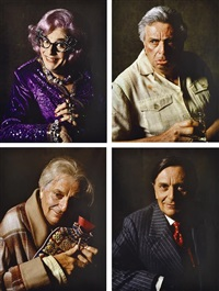 barry, edna, sandy and les (4 works) by lewis morley