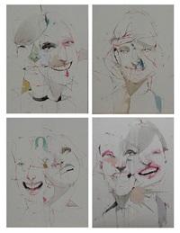 smiles (4 works) by alexandros vasmoulakis