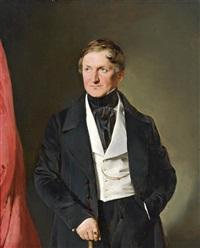 dreiviertelfiguriges portrait eines herren by franz eybl