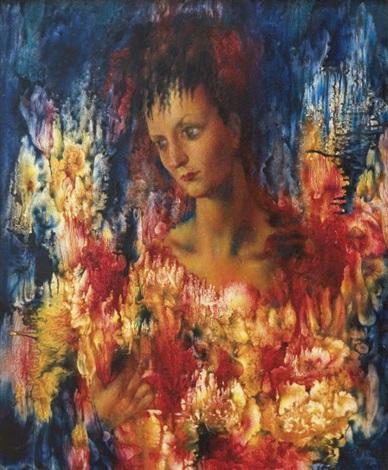 portrait of patricia lopez wilshaw by pavel tchelitchew