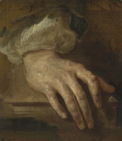 study of a hand by sir anthony van dyck