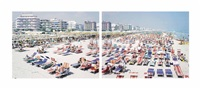 riccione (diptych) (from landscape with figures (set of 2)) by massimo vitali