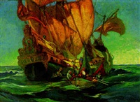 the pirate ship by oscar theodore jackman
