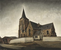 église en brabant by joseph albert
