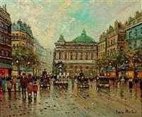 promeneurs avenue de l'opera by antoine blanchard