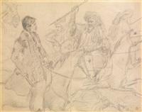 fumeur de pipe à dos d'âne by colonel f. colombari