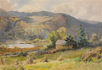 haystacks in a valley, county wicklow by gladys wynne