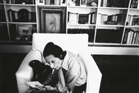diana vreeland in yves saint laurent's apartment, paris by david bailey