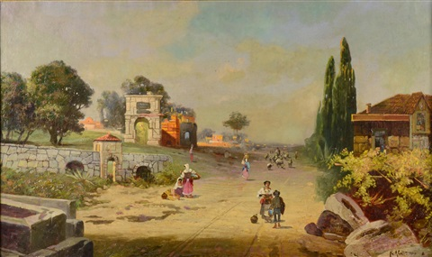 landscape with route in southern italy by robert alott