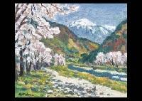 matsumoto susuki river ougato spring snow by kenkichi kodera
