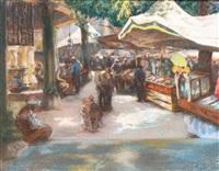 marché à istanbul by alexandre lunois