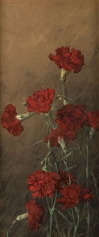 red carnations by albert r. valentien