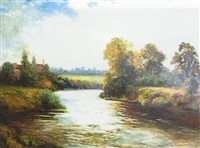 country river landscape by theo anderson