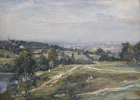 view from vale of heath hampstead heath by james herbert snell