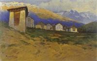 paesaggio montano con baite by rocco lentini