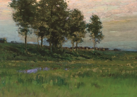 summer landscape by charles warren eaton