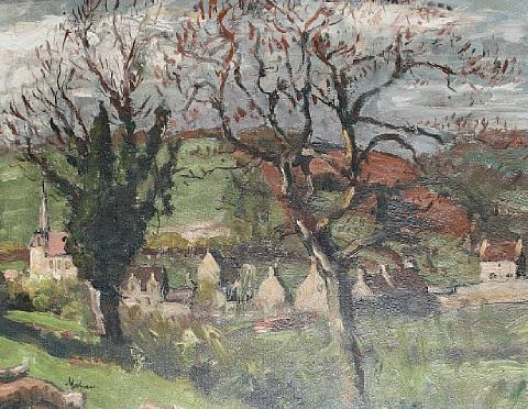 village through the trees by paul ayshford methuen