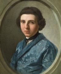 portrait de gentilhomme à la veste bleu by stefano tofanelli